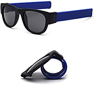 777aeee5f0 Tuotuo Slapsee lunettes de soleil pliantes lunettes polarisantes lunettes  commodément plier et clip sur le poignet
