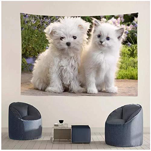 KBIASD Tapiz de Mascotas para Gatos y Perros, Tienda de decoración del hogar, habitación de Hotel, Mantel para Colgar en la Pared, tapete de Picnic, Fondo fotográfico, 200x150cm