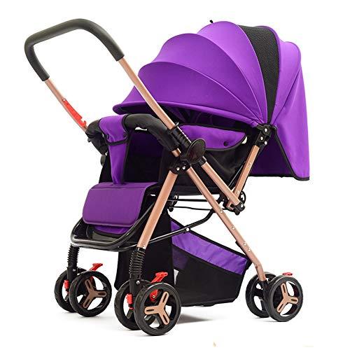 AJL Cochecitos y sillas Paseo Desde el Nacimiento del Carro de bebé - Sistema Viajes Viaje Mothercare, Plegable portátil a Prueba Golpes con Errores, Todo el Terreno Cochecito bebé Carro
