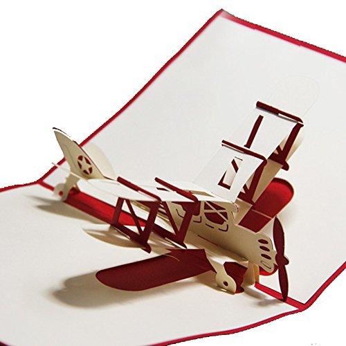3D Design Flugzeug fliegenden aerodone handgefertigt Pop-Up Karte Glider Grußkarte & Geschenk Karte kostenloser Versand