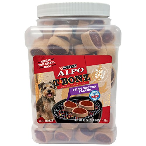 Purina Alpo Tbonz  Filet Mignon Flavor Dog Treats  40 Oz Canister