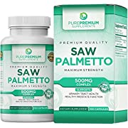Premium Saw Palmetto (Non-GMO & Gluten Free) – Maximum Strength Saw Palmetto Extract Capsules. Formulated for Men and Women. Hair Loss and Prostate Health Supplement.