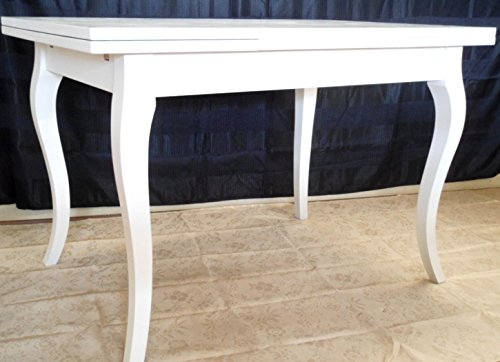 Legno&Design Table rectangulaire Extensible Blanc laqué