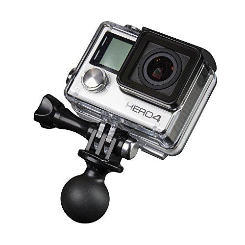 Mantona 21036 RAM Befestigungsadapter (für GoPro Hero 6 5 4 3+ 3 2 1, Session und andere kompatible Action Cams, RAM Kugelkopfhalter für Aktionkameras)