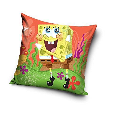 Bob l'éponge Spongebob Schwammkopf Kissen, Mikrofaser, Mehrfarbig, 40x 40x 15cm