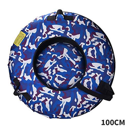 Aufblasbare Gummi Schnee Schlauch Heavy Duty Schlitteln verdicken Wear-Resistant Erwachsener Schnee Schnee Saucer Oxford Cloth Kinder Eis Pferdewinterreifen Schlitten Ski Ausrüstung ( Size : 100cm )