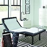 AMZ Mattress Adjustable Twin Bed Frame, Motorized Power Base for Comfortable Sleep w/Head Tilt, Leg & Foot Incline, Back Massage, Anti-Snore, Zero Gravity, 4 USB Charge, Bluetooth & Wireless Remote