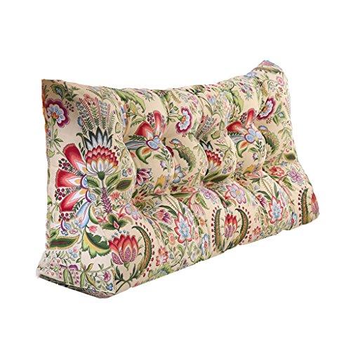 Almohada Reposacabezas de Cama Cojín Triangular Grande Cojín Grueso Cintura sofá extraíble y Lavable Cómodo (Color : B, Size : 180cm)
