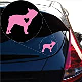 Yoonek Graphics Love French Bulldog Decal Sticker for Car Window, Laptop and More. # 1123 (4