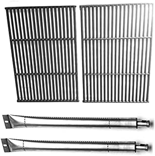 Replacement Kit for Lowes 276964L, GrillPro 224069, Perfect Flame & Sterling 535069B, 535069R, 535869 Gas Models Includes Cast Iron Grates & 2 Grill Burners