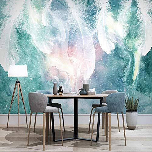 Nordic Mural 3D Ink Abstract Pen Modern tv Background Wall Decoration Painting Living Room Photo Wallpaper for walls-260cm Wx 175cm H(102.3×68.9inch)