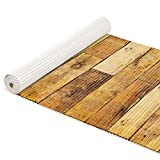 ANRO Badematte Weichschaummatte Bad- und Duschvorleger Teppich Antirutsch Badläufer Holz Diele Braun 100x65cm