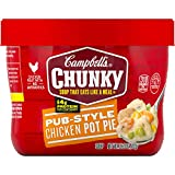 Campbell's Chunky Pub-Style Chicken Pot Pie Soup Microwavable Bowl, 15.25 oz. (Pack of 8)