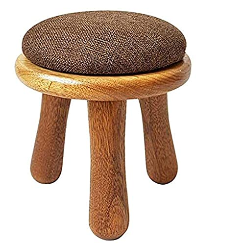 Foot Rest Stool Round, Small Ottoman Foot Stool with Legs, Change Shoes Stool Bedroom Stool, Footrest with Padded Foam Seat - 25 * 34cm(10 * 13.3 In)