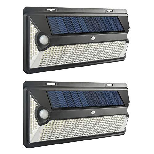Luce Solare LED Esterno da Parete, Everpert 360 LED Luce Solare con Sensore di Movimento da Esterno, Wireless Lampada Solare da Parete Esterno IP65, 360º Illuminazione Notturna da Giardino