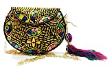 gauri Nácar embrague bolso étnico de las mujeres Shell Sling Bag llamativo fiesta monedero indio hecho a mano bolso vintage