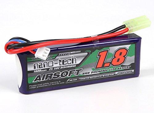Turnigy nano-tech - Batería para airsoft (1800 mAh, 2S, 25-50 C, Lipo de litio)