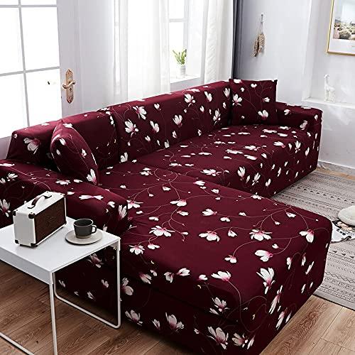 WXQY Fundas para sofá elásticas modulares elásticas para Sala de Estar Funda para sofá Toalla para sofá en Forma de L Funda para sillón Funda para sofá A9 4 plazas
