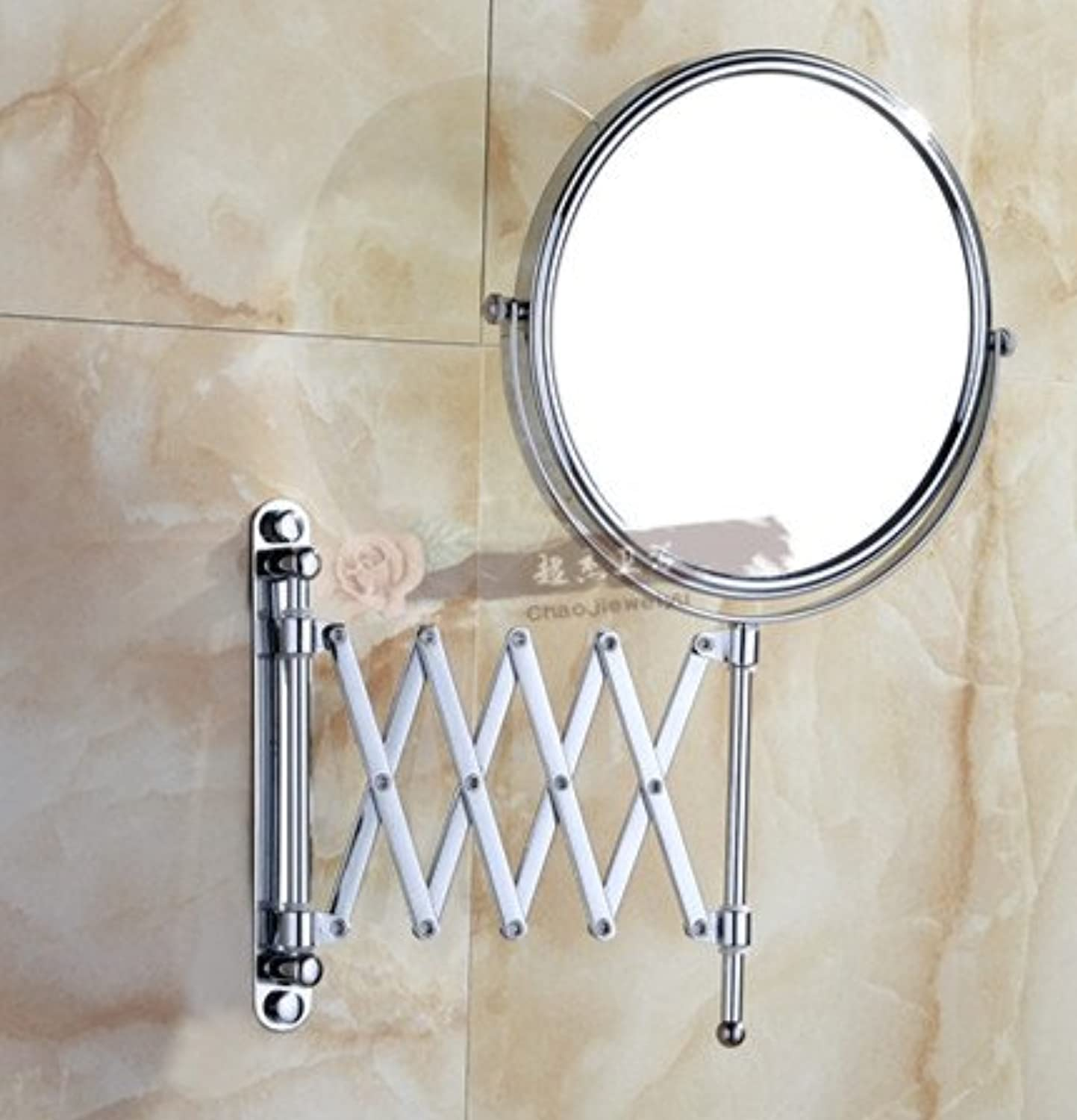 Bathroom vanity mirror door-mounted telescopic mirror wall mount makeup mirror 8 inch