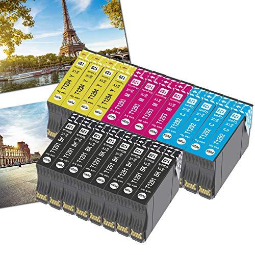 OGOUGUAN 20 T1295 - Cartuchos de tinta compatibles con Epson T1291 T1292 T1293 T1294 para Epson Workforce WF-3520 WF-7515 Stylus Stylus SX235W SX525WD SX535WD SX420W SX425W SX435W