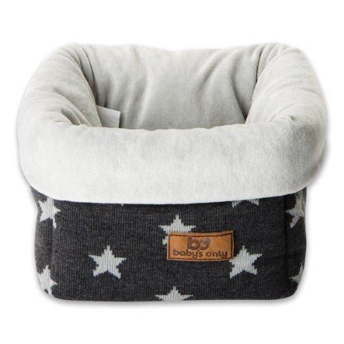 Baby's Only Corbeille de rangement Star gris anthracite et gris - Gris