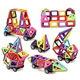 Magnetische Bausteine Magnetische Bausteine Set Magnetische Keramikfliesen Baby/Kinder Lernspielzeug 76 Stück