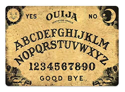 HiSign Tablero Ouija Marrón Carteles de Chapa de hojalata Retro Hierro Pintura Vintage Placa de Metal Cartel para Bar Cafe Home Road