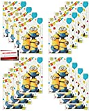 (16 Pack) Despicable Me Minions Party Plastic Loot Treat Candy Favor Bags Lootbags (Plus Party Planning Checklist by Mikes Super Store)