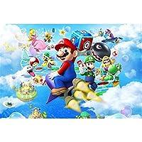 JHKJDF クラシックアニメスーパーマリオジグソーパズル500分の300 / 1000Pieces、マルチカラーパズルFPRアダルト圧力開放ゲーム (Color : A, Size : 300PC)