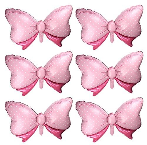 Happyupcity 6 globos de lazo rosa para decoración de fiesta de ratón, diseño de lunares, globo de arco jumbo para bodas, fiestas nupciales de Navidad, suministros de Halloween