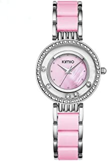 KIMIO Women Watch Ceramics Dress Watches Women Lucky Diamond Dial Watch Bracelet Woman Gold