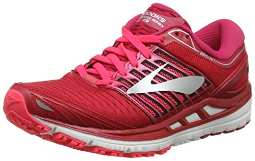 Brooks Damen Transcend 5 Laufschuhe, Mehrfarbig Pink/Silver 699, 40 EU
