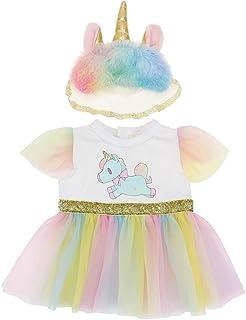 WENTS Ropa para Muñeca Vestido 2PCS Ropa de Muñecas para New Born Baby Doll Unicornio Vestidos para Muñeca Hechos para Muñ...