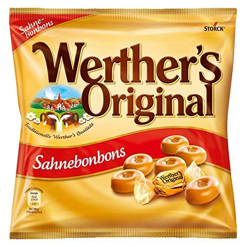 Werther's Original Sahnebonbons (1 x 245g) / Karamell Bonbons mit extra Sahne