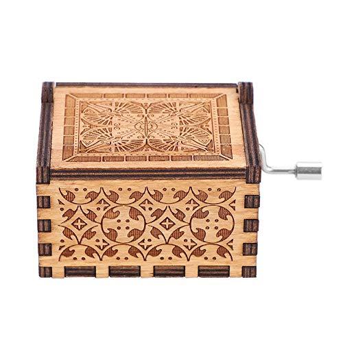 Carillon a Manovella in Legno – 1 Carillon Meccanico a Manovella, Carillon Classico, Regalo di Compleanno, Decorazione per la Casa #2