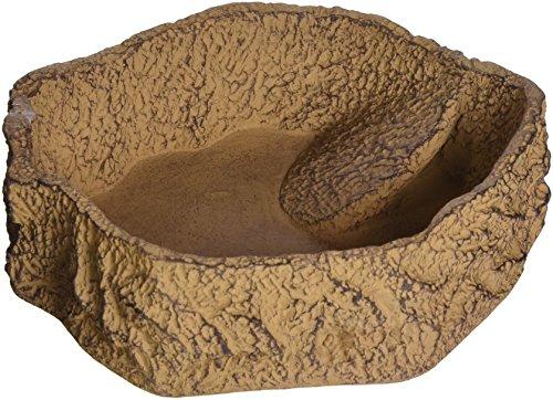 JBL ReptilBar 71086 Futter Trink und Badenapf für Terrarientiere, XL, sand