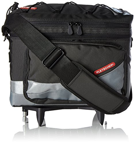 Pletscher Gepäckträgertasche-2179841800 Gepäckträgertasche, schwarz, 35x27x21cm