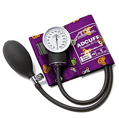 ADC Prosphyg 760 Pocket Aneroid Sphygmomanometer with Adcuff Nylon Blood Pressure Cuff, Adult, Black