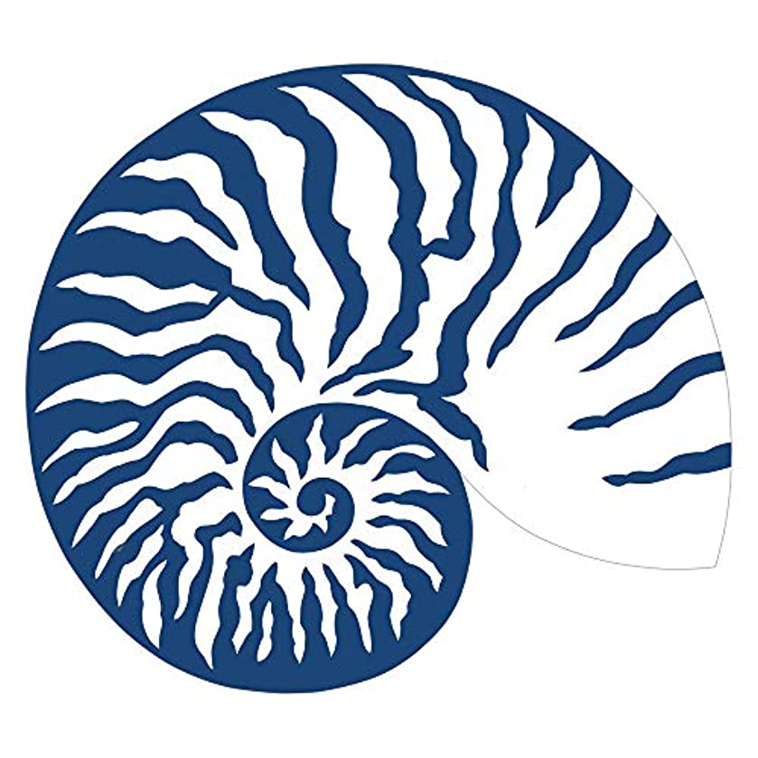 Caspari Shell Die-Cut Place Mats in Blue & White, 2 Included