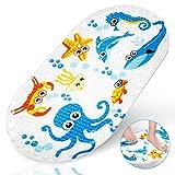Yosemy Badewannenmatte rutschfeste Antirutsch Badematte mit Saugnäpfen Cute Muster Krake Design antibakteriell Duschmatte für Kinder Baby (69 x 39 cm)