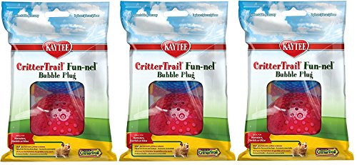 (6 Pack) Kaytee CritterTrail Fun-nels Bubble Plugs, Assorted Colors (3 Packages Containing 2 Each)