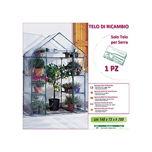 Verdemax 2517 - Telo Ricambio per Serra (140 X 73 X H 200 Cm)