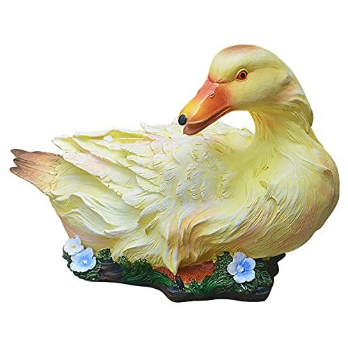 foreverH Schwimmendes Entlein Miniatur Statue Ornament, Polyresin Figuren Gartenfiguren Küken, Garten Pool Teich Brunnen Rasen Dekor Wasserspaß