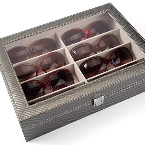 Duzhengzhou Lunettes de Soleil Boîte de Rangement Boîte de Rangement Multi-Grille Lunettes de Soleil boîte coréenne Boîte à Bijoux Simple Boîte de Finition (Color : 2)