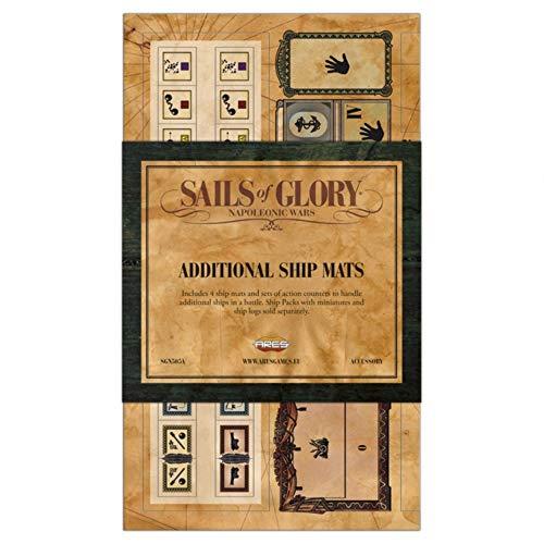 Ares Games ARESGN505A Sails of Glory: zusätzliche Schiffsmatten, Mehrfarbig