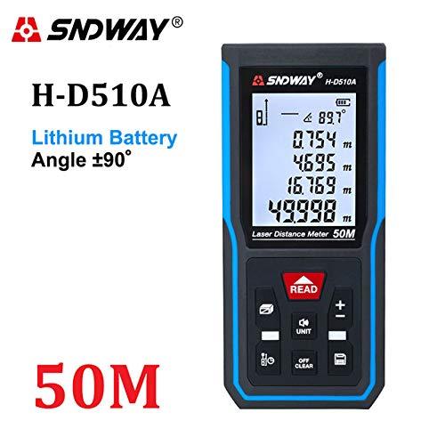 SNDWAY telémetro láser telémetro cientos de metros hasta 50 m 70 m banda Trena Lazer telémetro instrumento digital regla de la ruleta,H-50M D510A