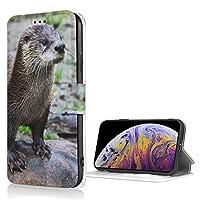 Iphone7/8 ケース 手帳型 カワウソ 石の上 携帯カバー 財布型 高級PUレザー カード収納 スタンド機能 マグネット式 アイフォン7/8 人気 おしゃれ