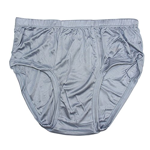 Pure Silk Knitted Men's Briefs BSY9112[Gray,USL]