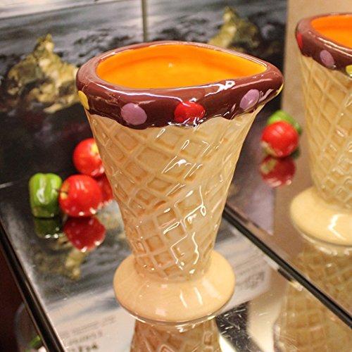 LRW Painted Ceramic Cup grote capaciteit water Cup dessertcup ijs mok creatieve koude drank cup handgemaakte ijs modellering