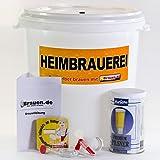Set de elaboración de cerveza Pils – Pilsner autoelaborar (12 – 20 litros) – Ideal para principiantes o como regalo de cerveza, incluye instrucciones de destilación
